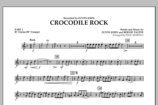 Crocodile Rock - Pt.1 - Bb Clarinet/Bb Trumpet (Flex-Band)