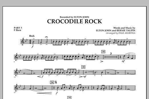 Crocodile Rock - Pt.3 - F Horn (Flex-Band)