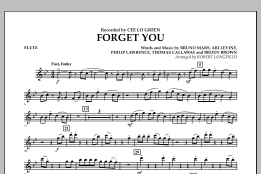 Forget You - Flute (Concert Band)