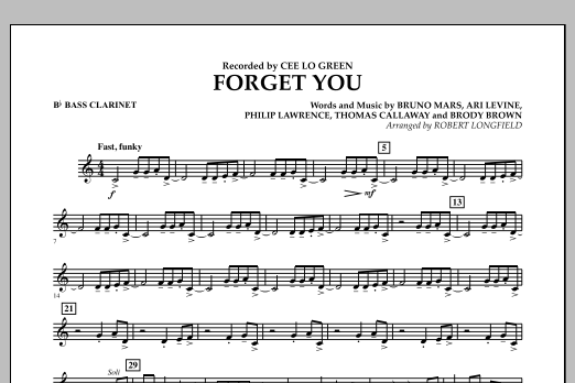Forget You - Bb Bass Clarinet (Concert Band)