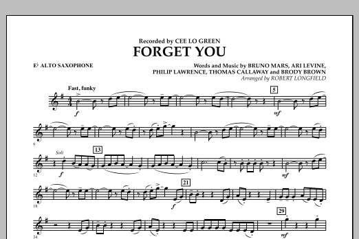 Forget You - Eb Alto Saxophone (Concert Band)