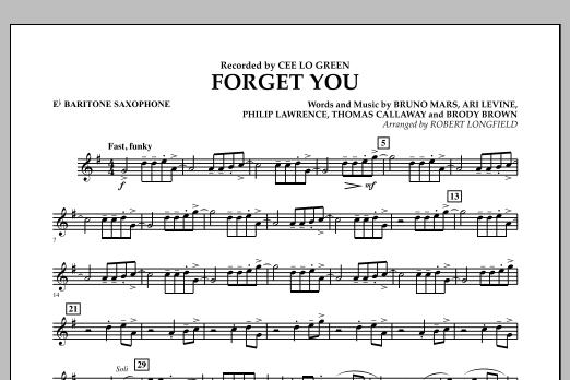 Forget You - Eb Baritone Saxophone (Concert Band)