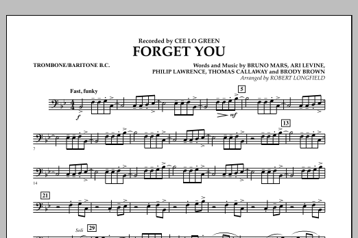 Forget You - Trombone/Baritone B.C. (Concert Band)