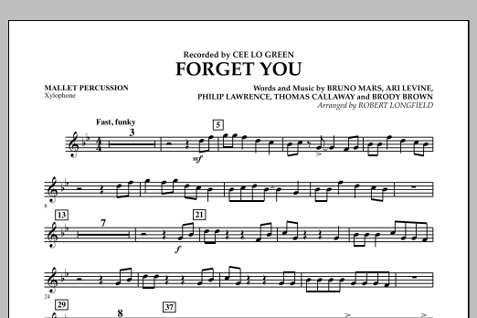 Forget You - Mallet Percussion (Concert Band)