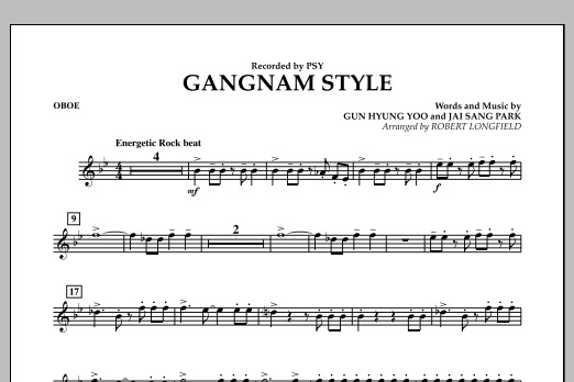 Gangnam Style - Oboe (Concert Band)