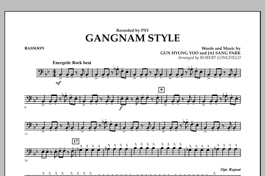 Gangnam Style - Bassoon (Concert Band)