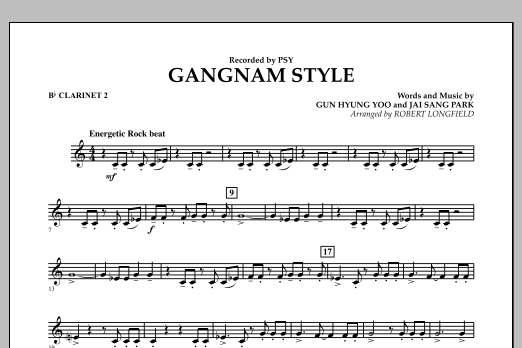 Gangnam Style - Bb Clarinet 2 (Concert Band)
