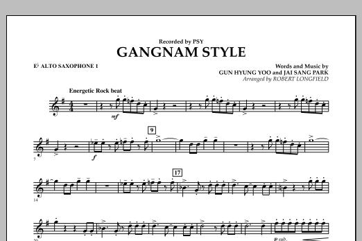 Gangnam Style - Eb Alto Saxophone 1 (Concert Band)