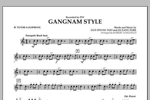 Gangnam Style - Bb Tenor Saxophone (Concert Band)
