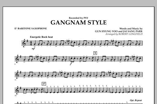 Gangnam Style - Eb Baritone Saxophone (Concert Band)