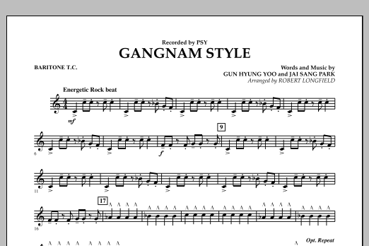 Gangnam Style - Baritone T.C. (Concert Band)