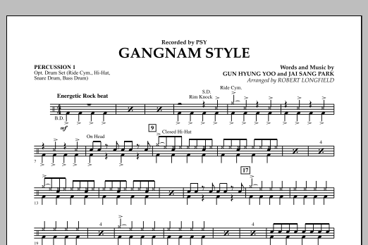 Gangnam Style - Percussion 1 (Concert Band)