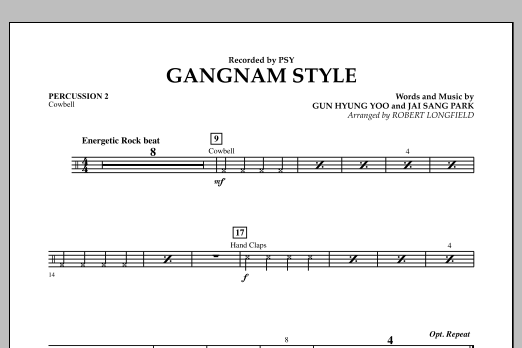 Gangnam Style - Percussion 2 (Concert Band)