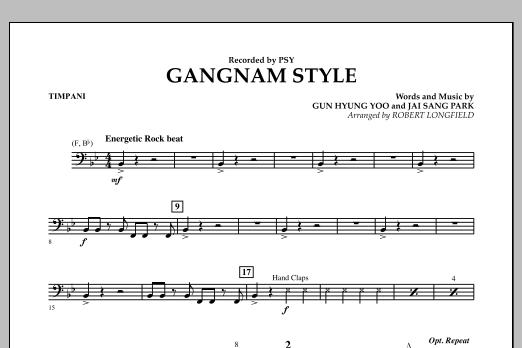 Gangnam Style - Timpani (Concert Band)