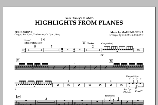 """Highlights from """"Planes"""" - Percussion 2 (Concert Band)"""