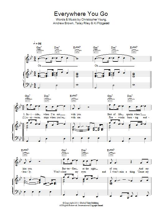 Everywhere You Go (Piano, Vocal & Guitar)