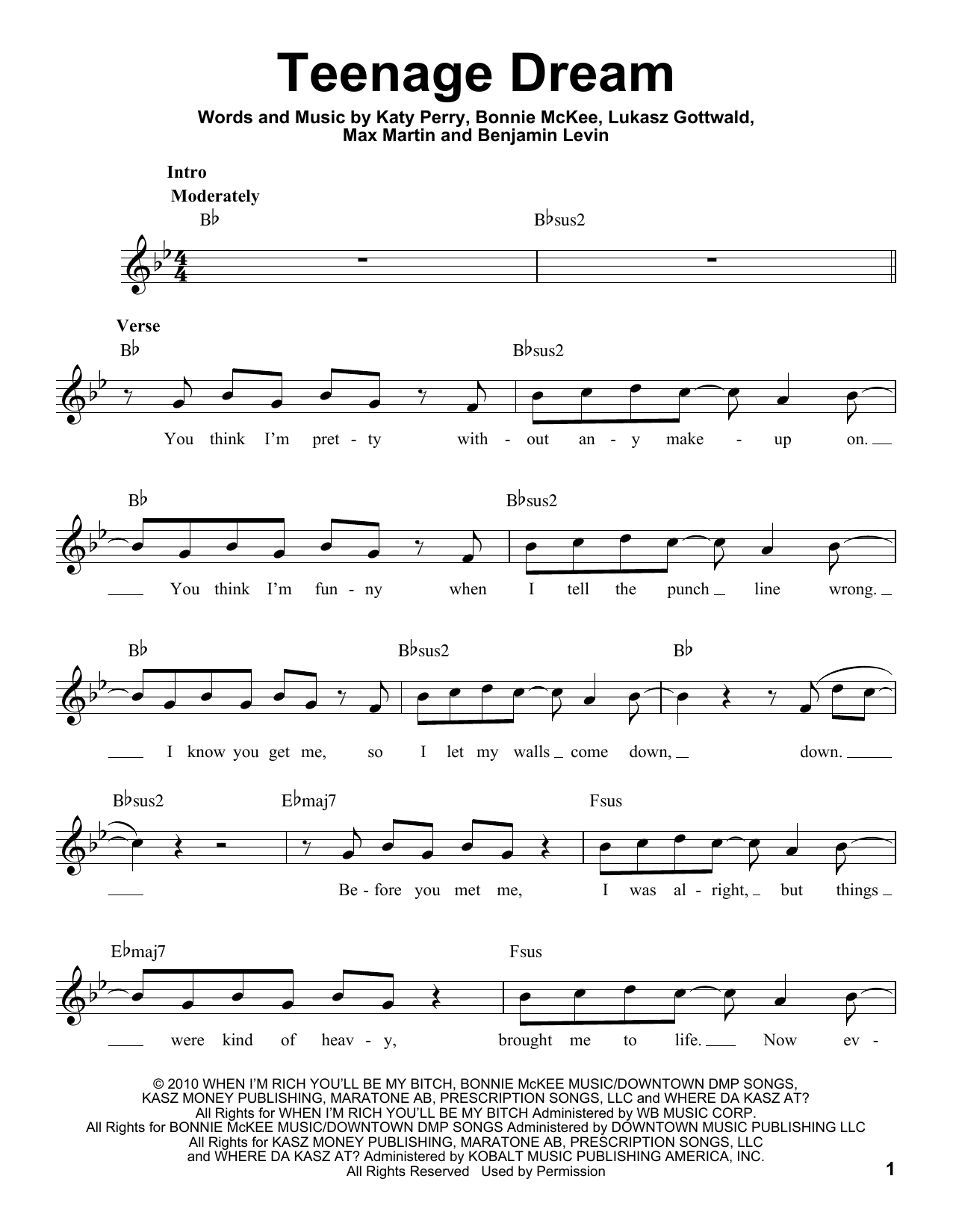 Teenage Dream (Pro Vocal)