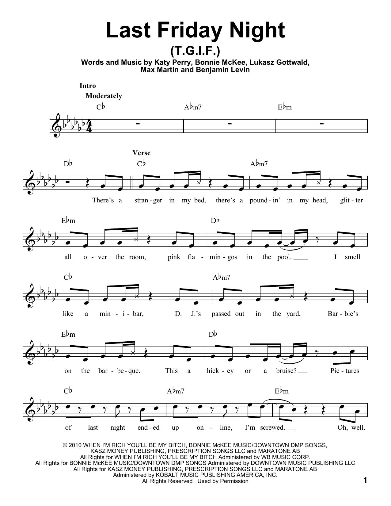 Teenage Dream By Bonnie Mckee Katy Perry Max Martin Benjamin
