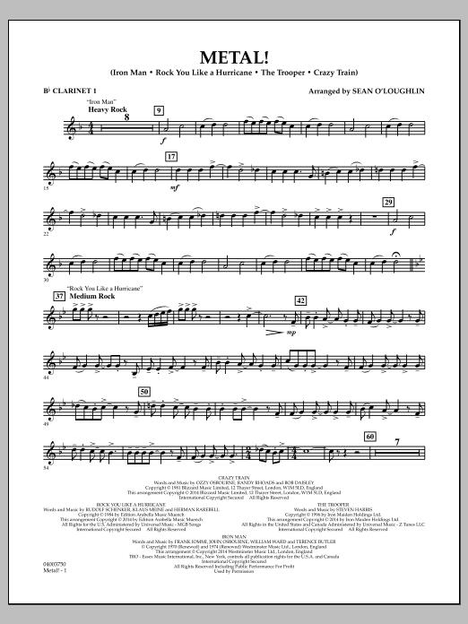 Metal! - Bb Clarinet 1 (Concert Band)