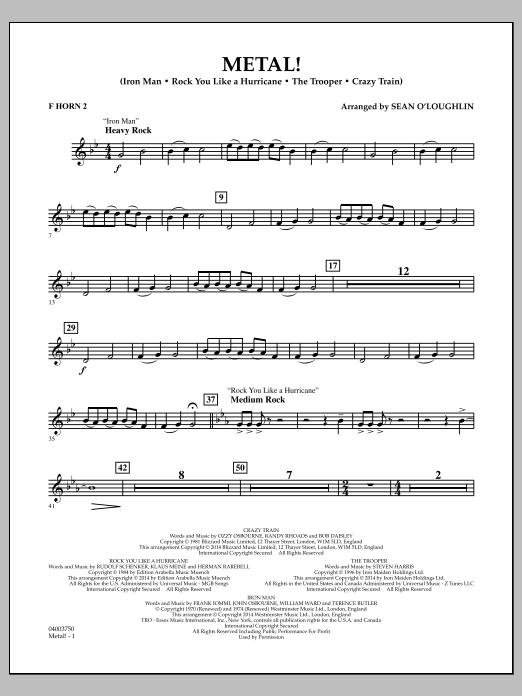 Metal! - F Horn 2 (Concert Band)