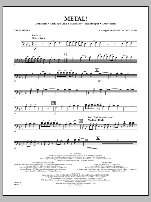 Metal! - Trombone 1 (Concert Band)