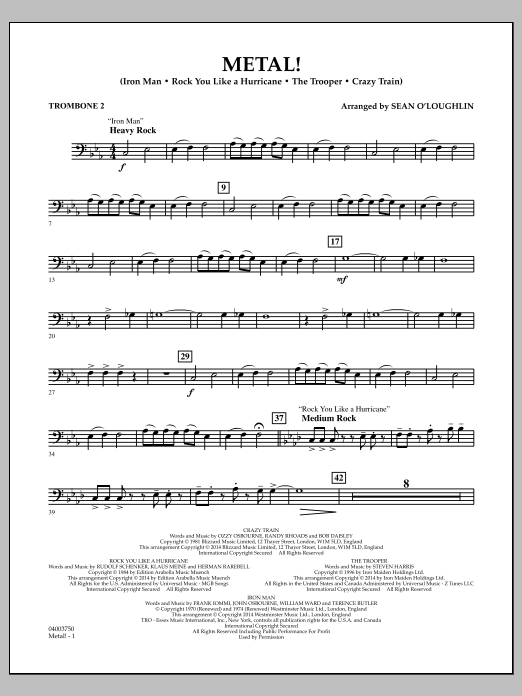 Metal! - Trombone 2 (Concert Band)