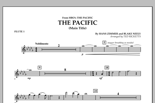 The Pacific (Main Title) - Flute 1 (Concert Band)