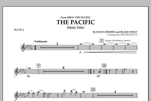 The Pacific (Main Title) - Flute 2 (Concert Band)