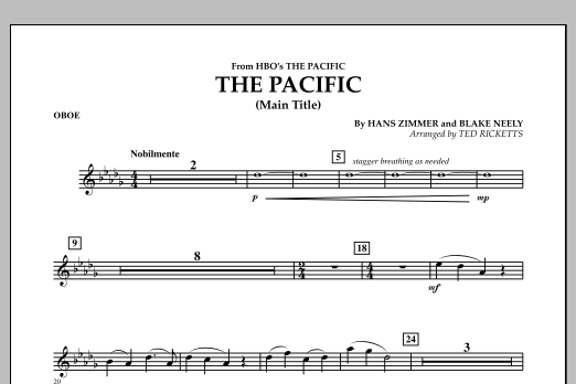 The Pacific (Main Title) - Oboe (Concert Band)