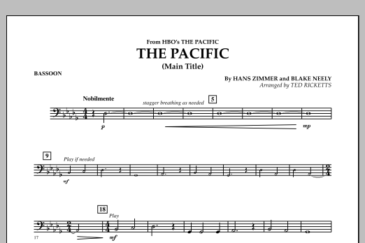 The Pacific (Main Title) - Bassoon (Concert Band)
