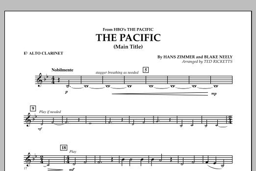 The Pacific (Main Title) - Eb Alto Clarinet (Concert Band)