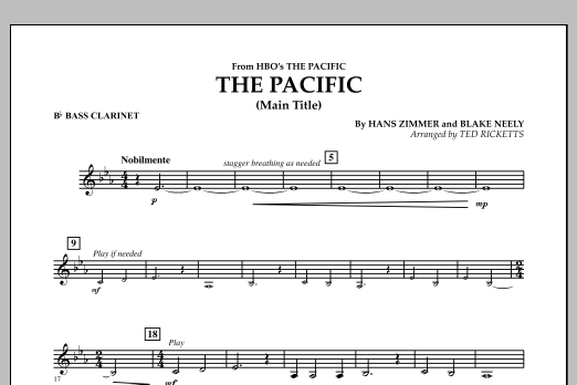 The Pacific (Main Title) - Bb Bass Clarinet (Concert Band)