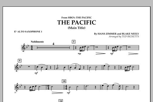 The Pacific (Main Title) - Eb Alto Saxophone 1 (Concert Band)