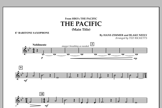 The Pacific (Main Title) - Eb Baritone Saxophone (Concert Band)