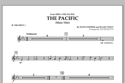 The Pacific (Main Title) - Bb Trumpet 1 (Concert Band)