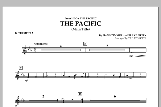 The Pacific (Main Title) - Bb Trumpet 2 (Concert Band)