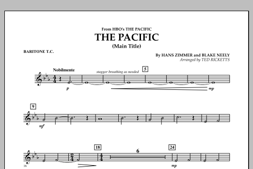 The Pacific (Main Title) - Baritone T.C. (Concert Band)