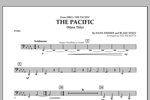 The Pacific (Main Title) - Tuba (Concert Band)