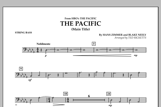 The Pacific (Main Title) - String Bass (Concert Band)
