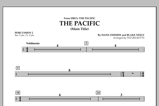 The Pacific (Main Title) - Percussion 2 (Concert Band)