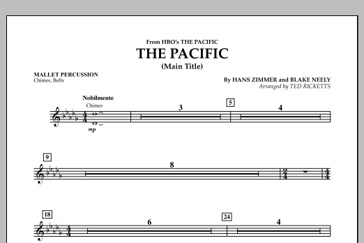 The Pacific (Main Title) - Mallet Percussion (Concert Band)