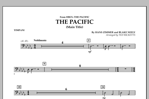 The Pacific (Main Title) - Timpani (Concert Band)