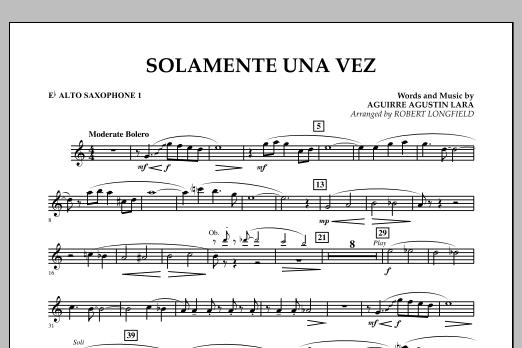 Solamente Una Vez - Eb Alto Saxophone 1 (Concert Band)
