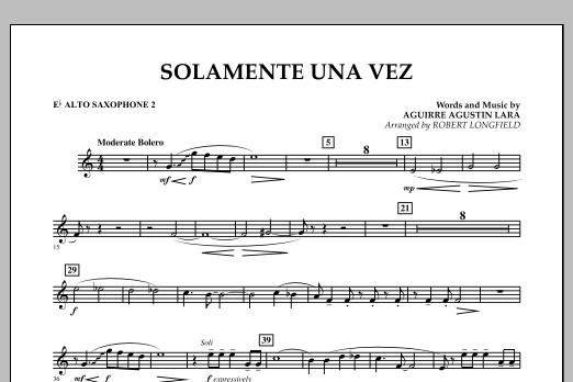 Solamente Una Vez - Eb Alto Saxophone 2 (Concert Band)