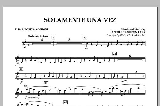 Solamente Una Vez - Eb Baritone Saxophone (Concert Band)