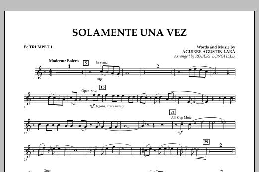 Solamente Una Vez - Bb Trumpet 1 (Concert Band)