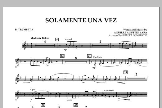 Solamente Una Vez - Bb Trumpet 3 (Concert Band)