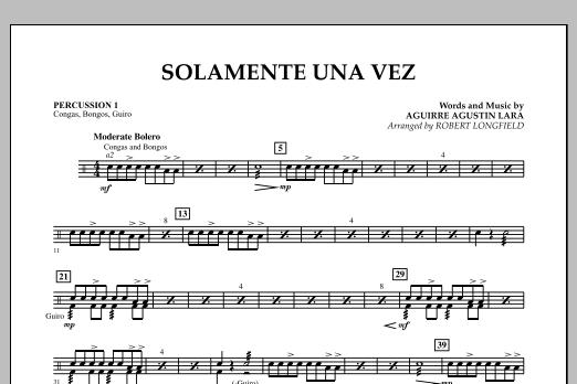 Solamente Una Vez - Percussion 1 (Concert Band)