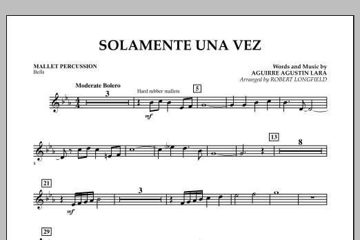 Solamente Una Vez - Mallet Percussion (Concert Band)