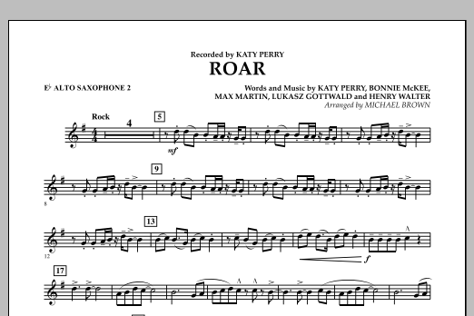 Roar - Eb Alto Saxophone 2 (Concert Band)